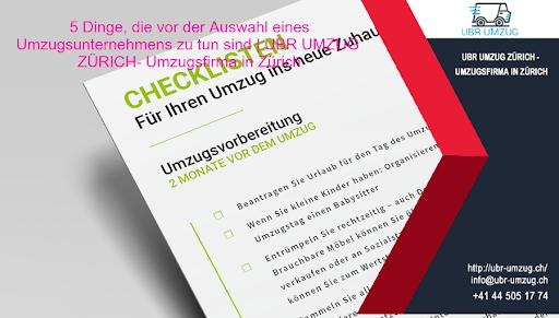 5 Dinge, die vor der Auswahl eines Umzugsfirmas zu tun sind | UBR UMZUG ZÜRICH - Umzugsfirma in  Zürich